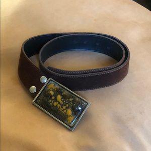 Accessories - Glass/suede Belt